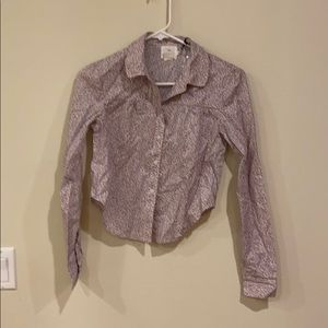 NWT Alice & UO Long Sleeve Button Up Shirt